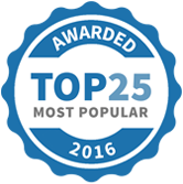 Awarded Top 25 most Popular Coaches 2016