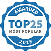 Awarded Top 25 most Popular Coaches 2018